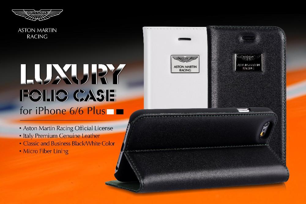 size 40 9e9b3 3fa79 Aston Martin Racing Leather Case For Iphone 6s Plus Folio Luxury,White  Folio Genuine Leather Case For Iphone 6s Plus - Buy Cover Case For Iphone  6s ...