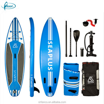 Optional color PVC EVA drop stitch stand up surf inflatable paddle board