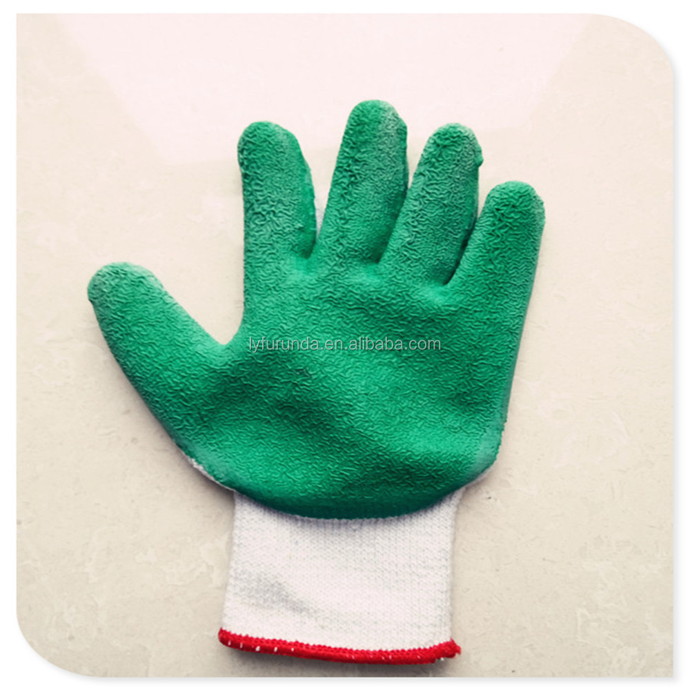 SAFETY 10 gauge Hands protective work string knitted latex gloves CE EN 388