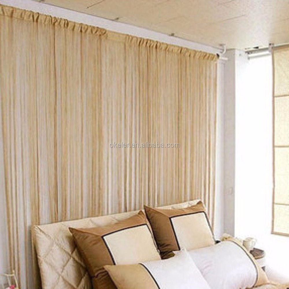 New Christmas Wholesale 3m X 3m Black Tassel Drape Panel Strings Curtain  For Window Door Room
