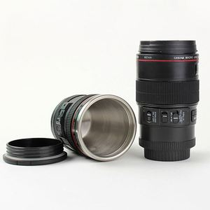 ZOGIF unique idea Thermo Lens Cup Stainless Steel Insulated Camera Lens Beverage Tumbler with Easy Clean Lid Camera Lens