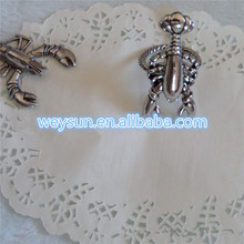Elegant Hotel Serviette Rings Wedding Decoration Napkin Rings Party Table Circular Oranments Animal Lobster Napkin Circles