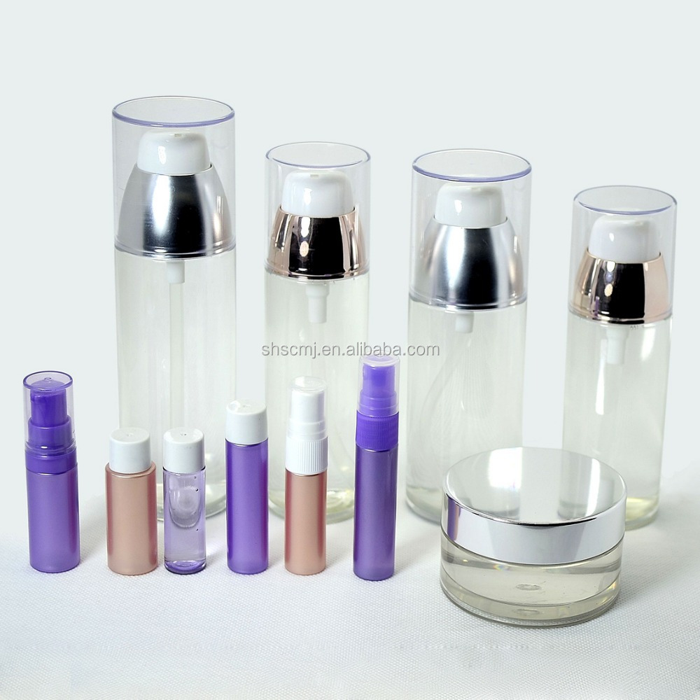 customize high end pet lotion bottle transparent colorful lotion pump bottle for personal skin care
