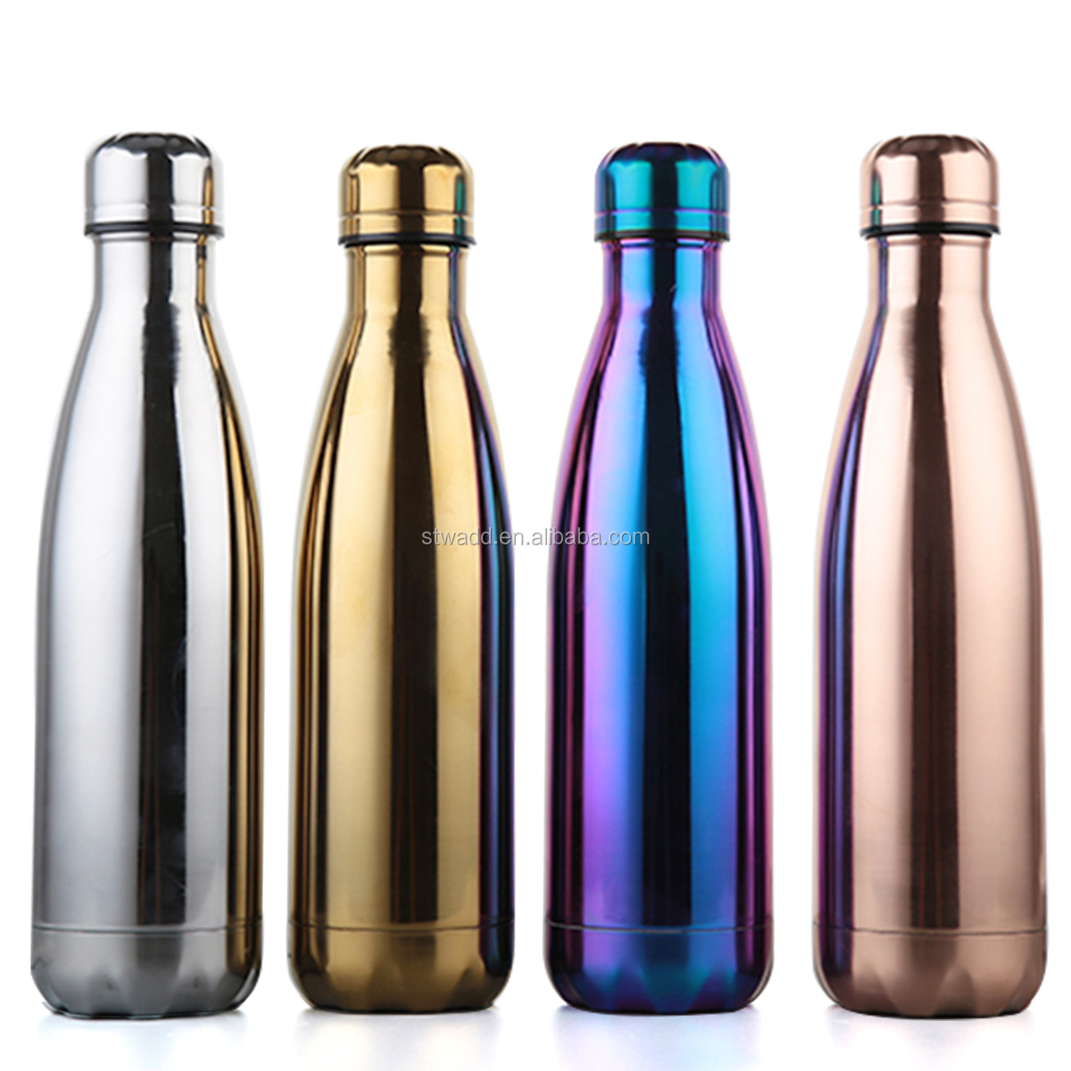 custom printed double wall thermal stainless steel thermos water bottle