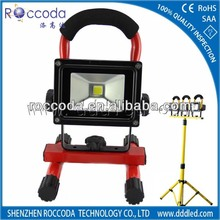 2012 new-design CE SAA IP65 Battery Powered Portable 20w Rechargeable LED flood light with stand tripod