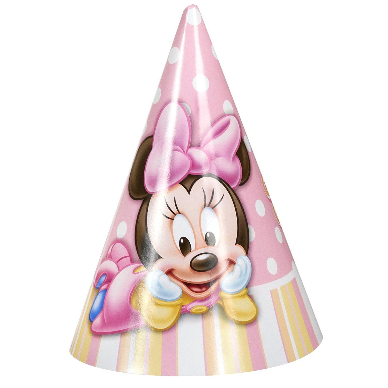 Get Quotations Hallmark Minnies 1st Birthday Cone Hat