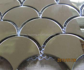 Oro o argento stile marocchino scala di pesci mattonelle di