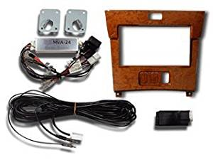 Beat-Sonic Navi mounting kit [MVA series] Celsior 30 series latter term [Electro Multi-Vision (EMV) + dedicated Super Live Sound (Mark Levinson) attaching car with genuine steering audio switch vehicles] [Panel Color Light Brown MVA-24WD1