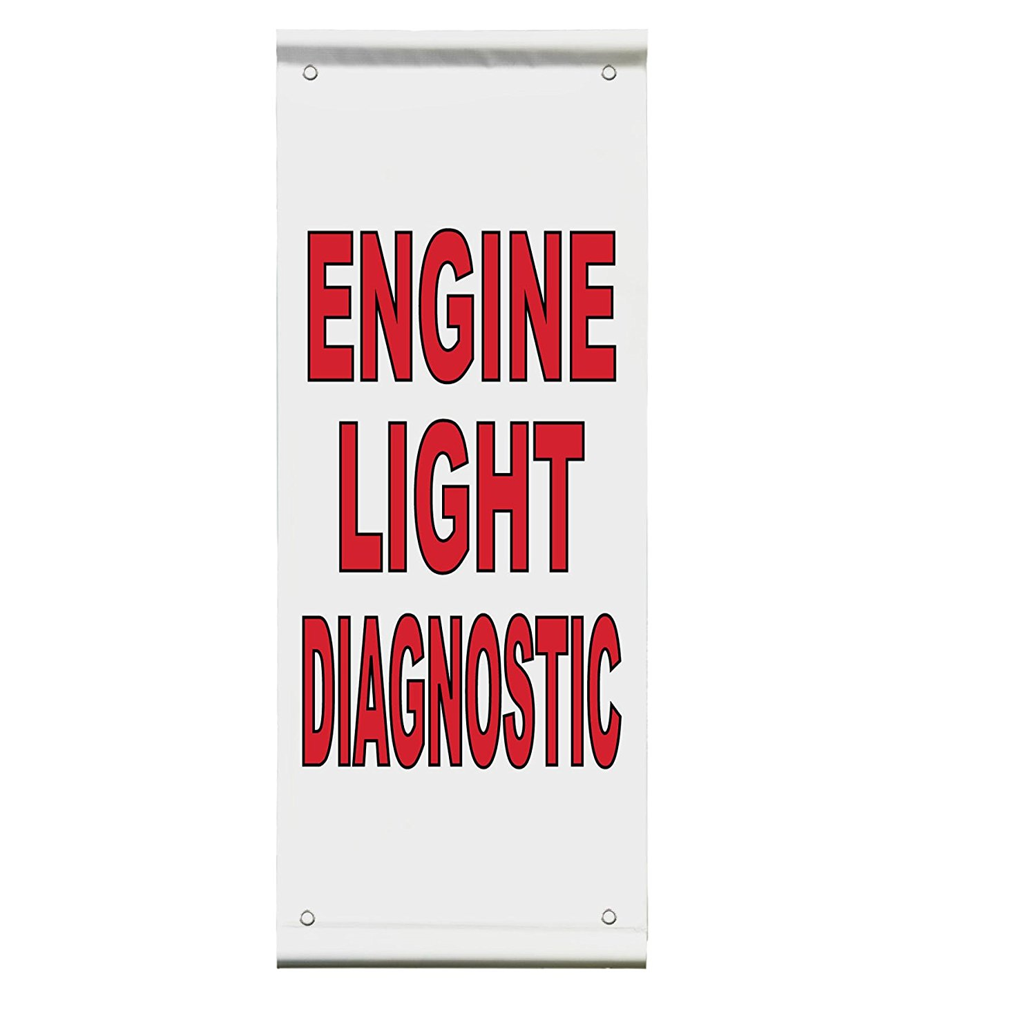 Engine Light Diagnostic Auto Body Shop Car Double Sided Pole Banner Sign 36 in x 72 in