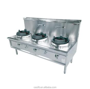El Restaurant Equipment Kitchen Co Ng Stove Gas Wok Burner Chinese Gas Wok Range