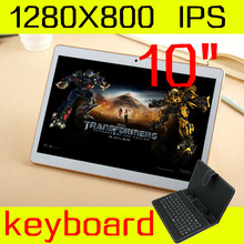 10 inch tablet keyboard IPS octa core ram 4GB ROM 64GB 5.0mp 3 G android5.1 Tablet PC card phone call mtk6592 dual sim GPS 10