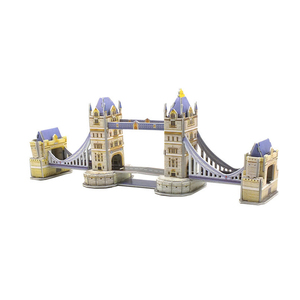 Diy 3d assembling toy puzzle assembling educational toy London twin bridge kids puzzle toys