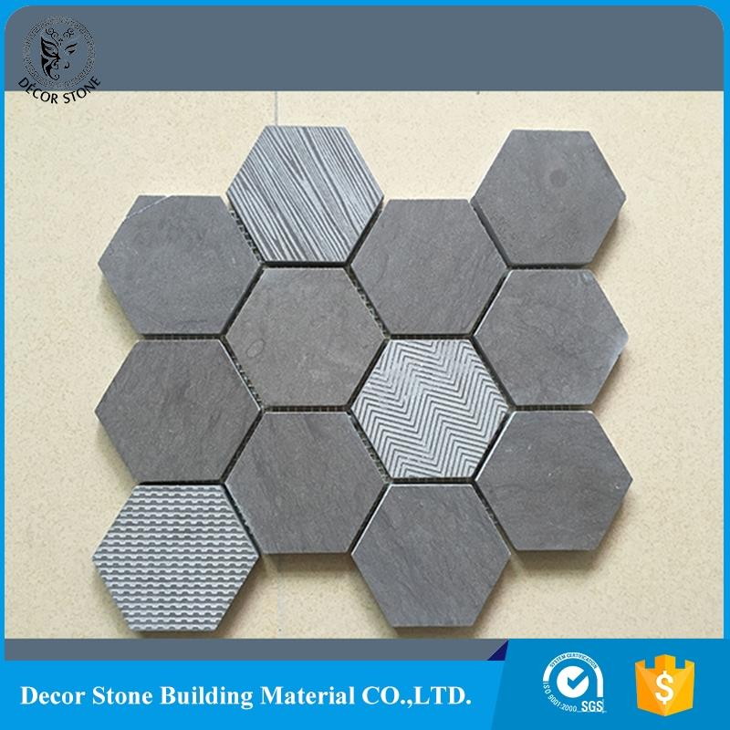 2017 New hexagon marble mosiac for kitchen and bathroom
