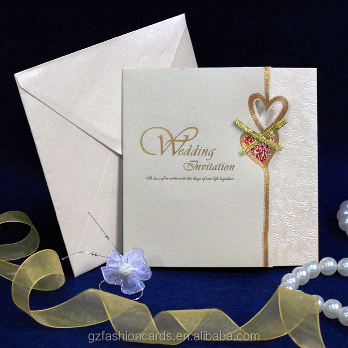 2014 Latest Cheap Handmade Wedding Invitation Card With Hearts - Buy ...
