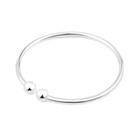 Wholesale Fashion Accessories Girls Plain White Brass Hand Bracelet With Ball