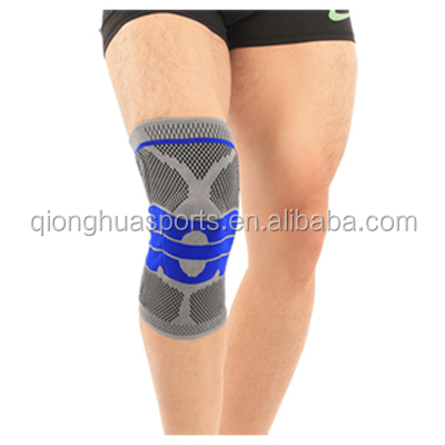 Hot Sale Premium Silica Gel Spring Stay Knitting Knee Support Brace