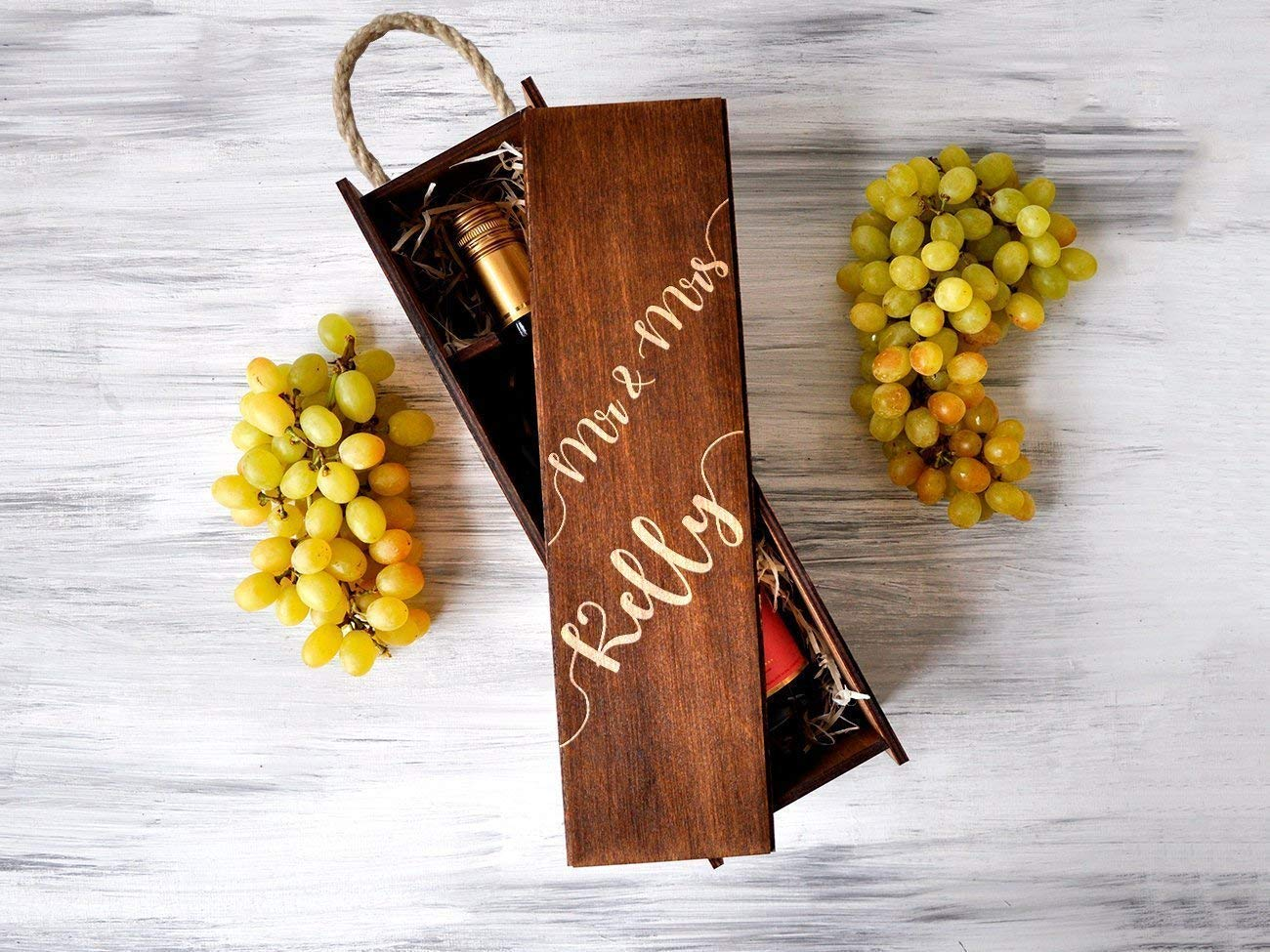 Personalized Wine Box Wedding Gift For Couple Gift for Her Wooden Wine Box Anniversary Gift Custom Engraved Wine Box Wedding Ceremony Wine Box Personalized Gift Wedding Party Gifts Mr and Mrs Gifts