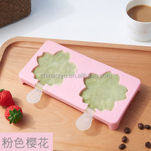 Hot sales Flower Popsicle Sticks Plastic Ice Pop Mold