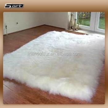 Soft Thick Fur Sheep Skin Prayer Baby Alpaca Rug