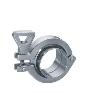 304 Stainless Steel Clamp w Wing Nut for Quick Clamp Fittings