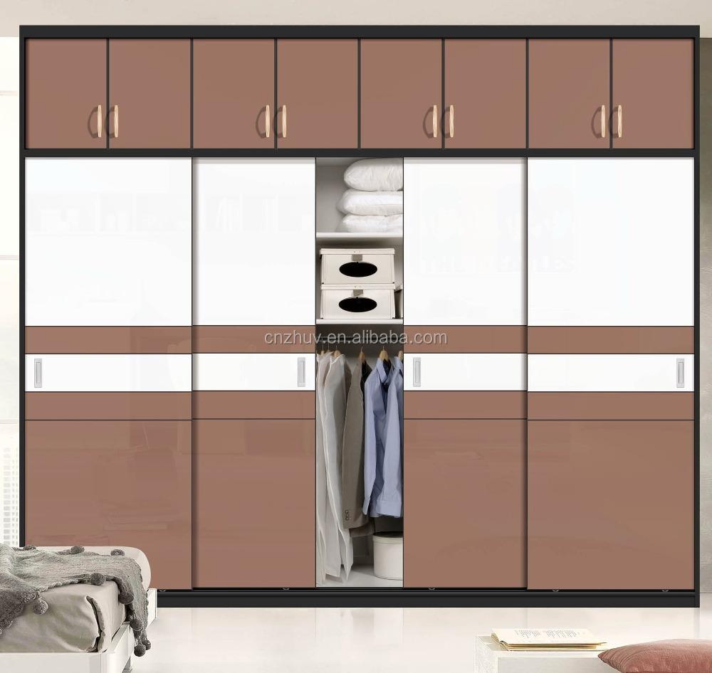 vidrio pintado de madera puerta corredera armario armario con rieles