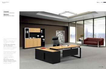 Melamine L Shaped Office Table Design Modern Manager Office Desk