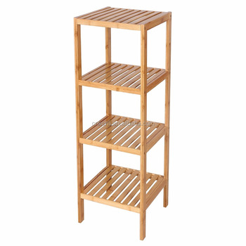 100% Bambus Bad Regal 4-tier-8 Multifunktionale Lagerregal Regal 38 5/8 \'\'x  12 7/8\'\' X 12 7/8\'\' - Buy Bad Regal,Badezimmer Eckregal,Bad Lagerregal ...