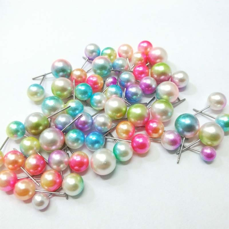 Hot selling Excellent Material Wholesale fashion mix color rhinestone pearl metal round pearl ball