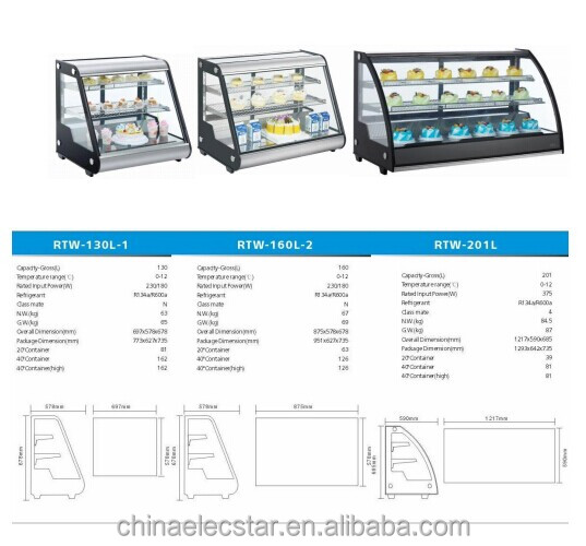 Countertop Refrigerated Display,Commercial Display Cake ...