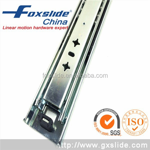 Push To Open Heavy Load Metal Drawer Side Slide Kitchen Cabinet