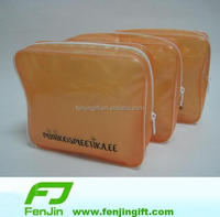 China Yiwu factory make frosted pvc pouch