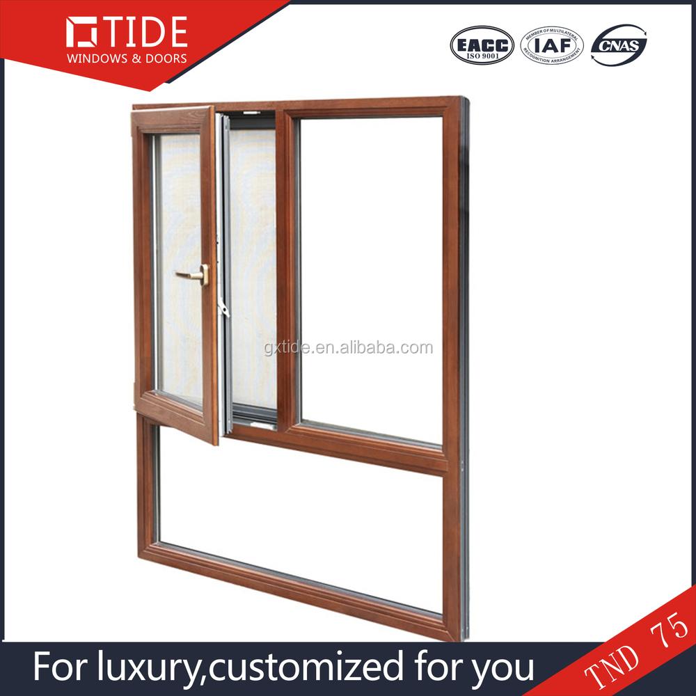 Aluminio Madera Sólida Dentro Windows/aluminio Doble Acristalamiento ...