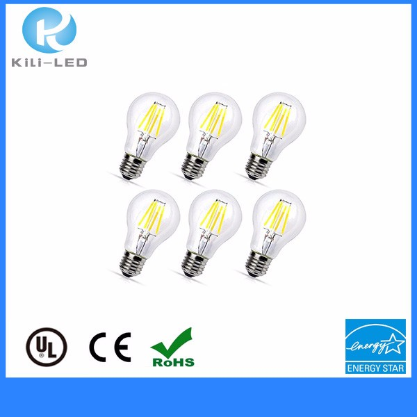 export A60 4.5W 470lm 2700K E27 DIM CRI>80 Filament Bulbs led filament lamp
