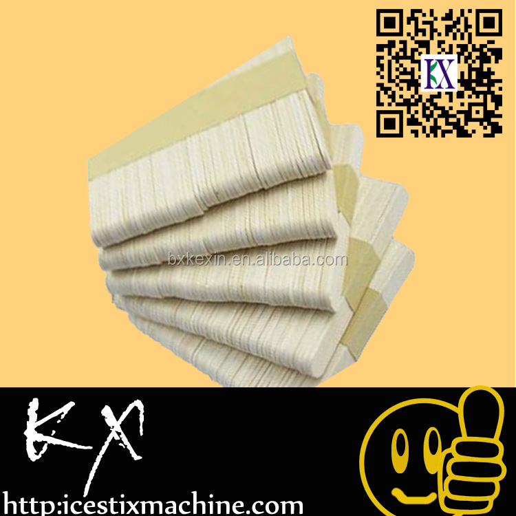 Eco-friendly flat wood sticks ice cream sticks