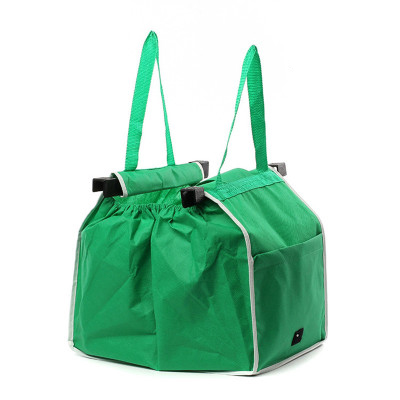 Magic Trolley Boodschappentas Clip aan Winkelwagen Grote Capaciteit 20L Opvouwbare Shopping Tote Bag Organizer