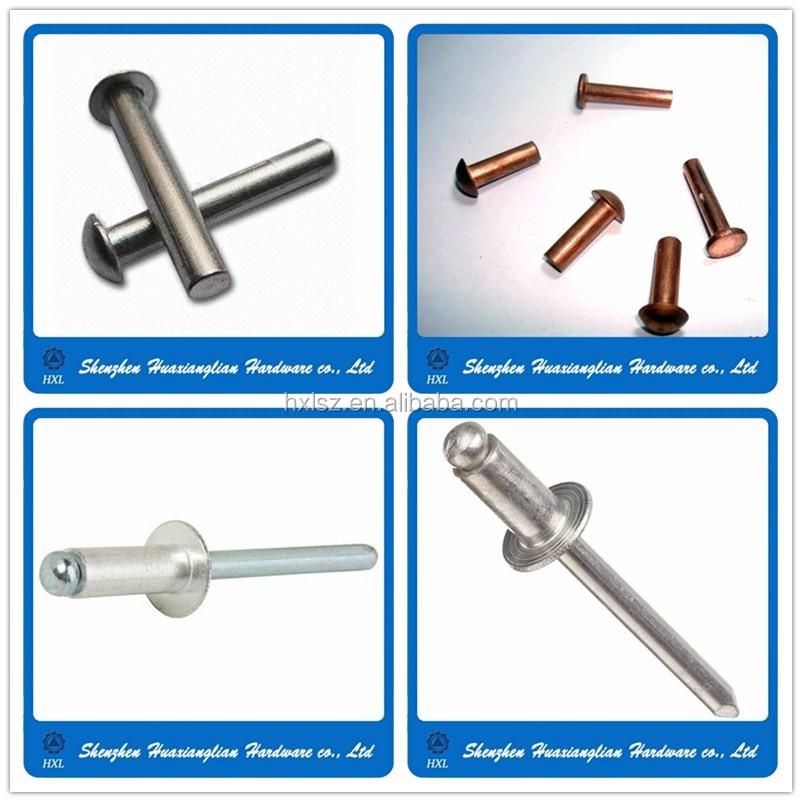 Diferentes tipos de acero inoxidable lat n s lido remache for Precio de remaches de aluminio
