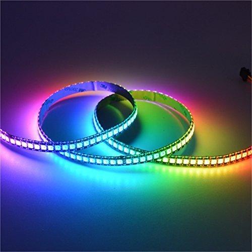 5V usb powered akıllı wifi denetleyici led şerit işık SMD5050 RGB 60led/m 5 m/grup beyaz PCB TV arkaplan ışığı müzik şerit işık
