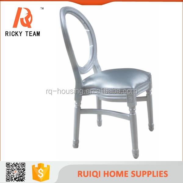 Clear back wholesale antique home furniture/stackable french style wooden louis chair for wedding/restaurant/hotel