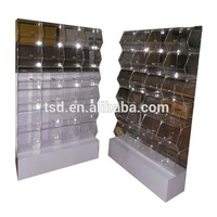 24 compartments food display containers/container stand acrylic bins display rack/food storage display containers