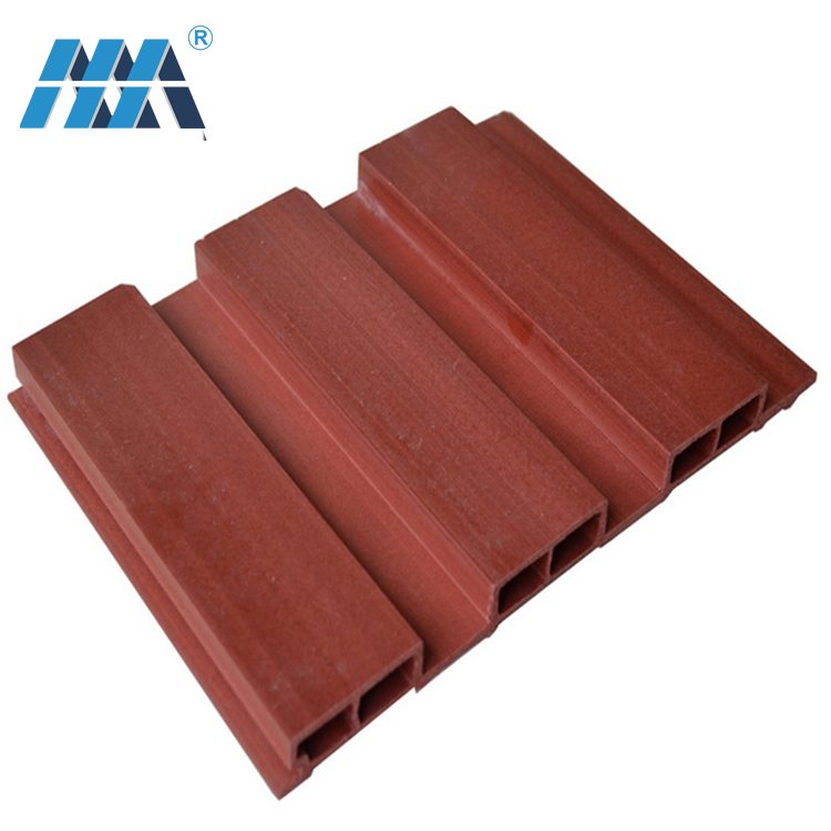 Low Cost Hollow Wood Wall bathroom easy installation building material Cladding Panel Cheap Plastic WPC Wall Panel