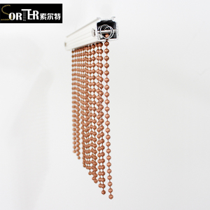 dubai luxury metal bead curtains/string beaded curtains/ball chain room dividers