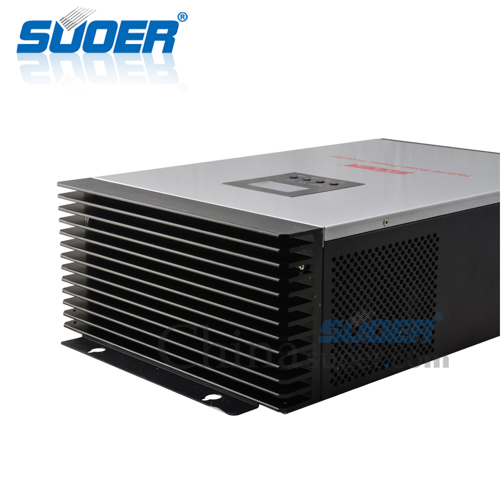 Suoer 5kva 48v 220v dc to ac Pure Sine Wave Invertor Hybrid Solar Power Inverter with 60A / 80A MPPT Charger Controller