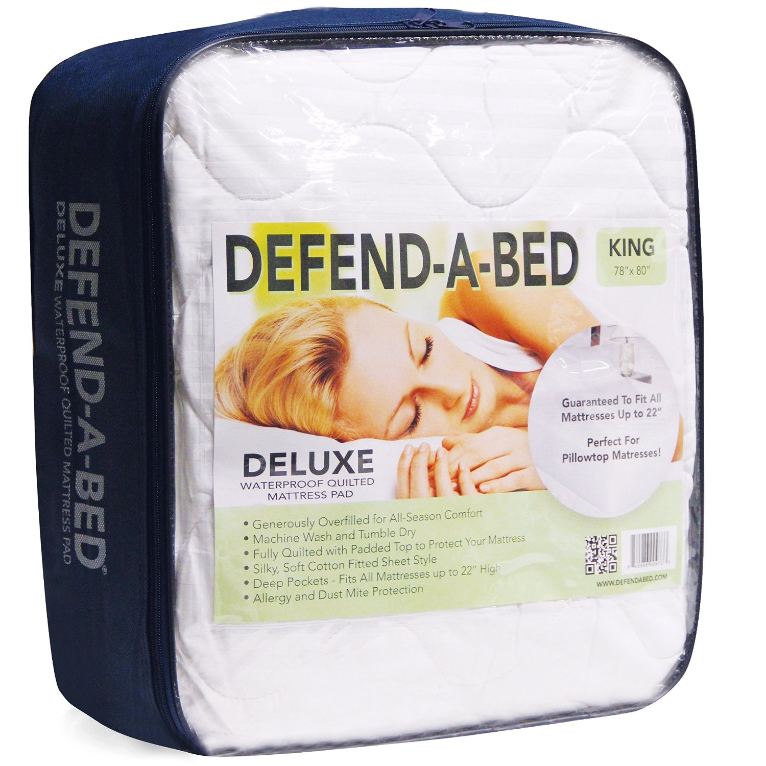 Classic Brands Defend-A-Bed Deluxe Quilted Waterproof Mattress Protector, Queen