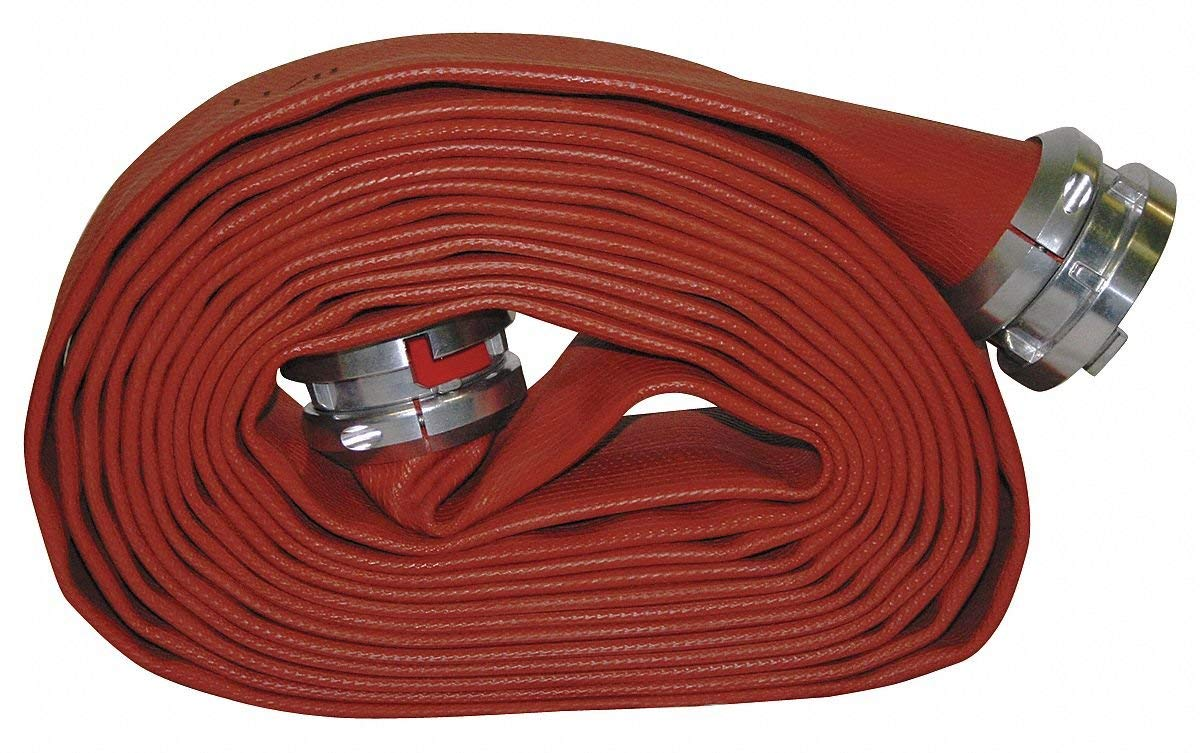 Red 2 1//2 x 50 Rubber Hose with Aluminum NH Couplings