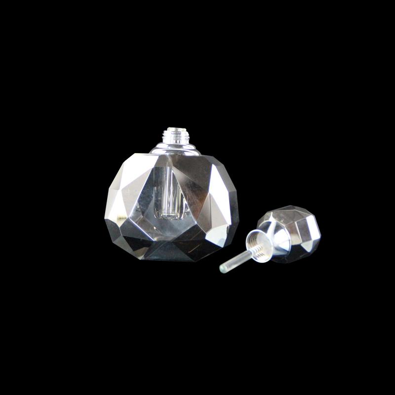 Personalizzato Oro e Argento Riutilizzabile di Cristallo Bottiglia di Profumo di Vetro