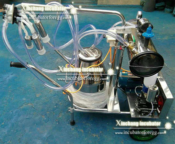 Stainless steel pulsating milking machine