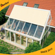 Factory supply waterproof full cassette conservatory roof awning