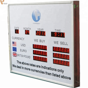 Room Rate Display Show Board/foreign Currency Exchange Sign Stand For Hotel  - Buy Exchange Rate Display,Small Led Screen Exchange Rate Display