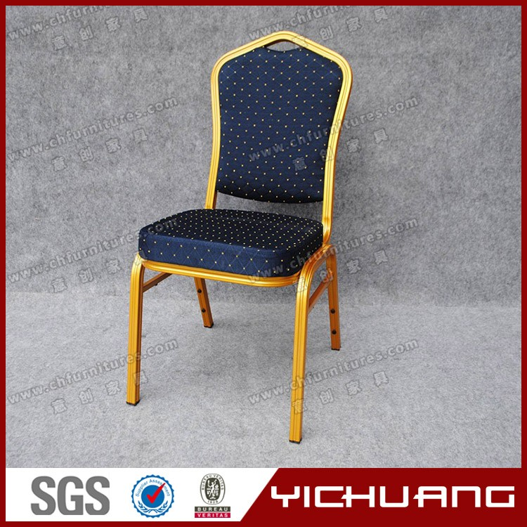 Blue fabric gold tube can weight 150kg dining chair YC-ZL22