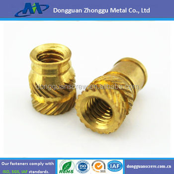 M2 M20 Fitting Part Molding Brass Knurled Insert Nut For